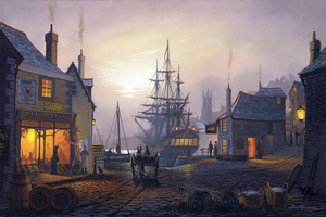 Open All Hours  Maritime Art by St Ives Artist Donald MacLeod.