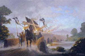 Crossing The Tamar (Devon and Cornwall border) a painting by Donald MacLeod