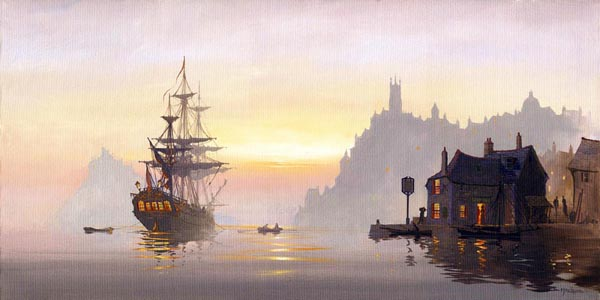 Safe Anchorage a maritme painting by Donald MacLeod
